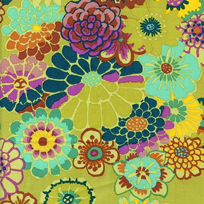 Asian Circles Chartreuse - Stash - Kaffe Fassett