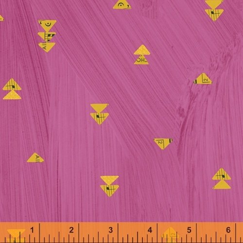 Hot Pink Floating Triangles - Wish - Carrie Bloomston - Windham Fabrics