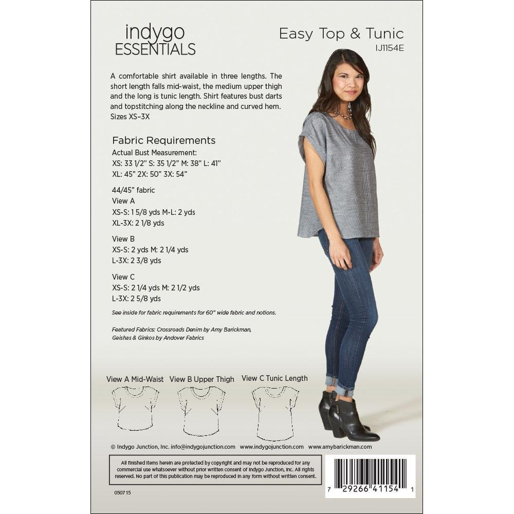 Easy Top and Tunic Pattern - Indygo Essentials