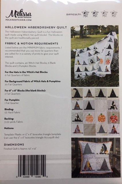 Halloween Haberdashery Quilt by Melissa Mortensen
