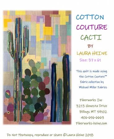 Cotton Couture Cacti Collage Pattern - Laura Heine