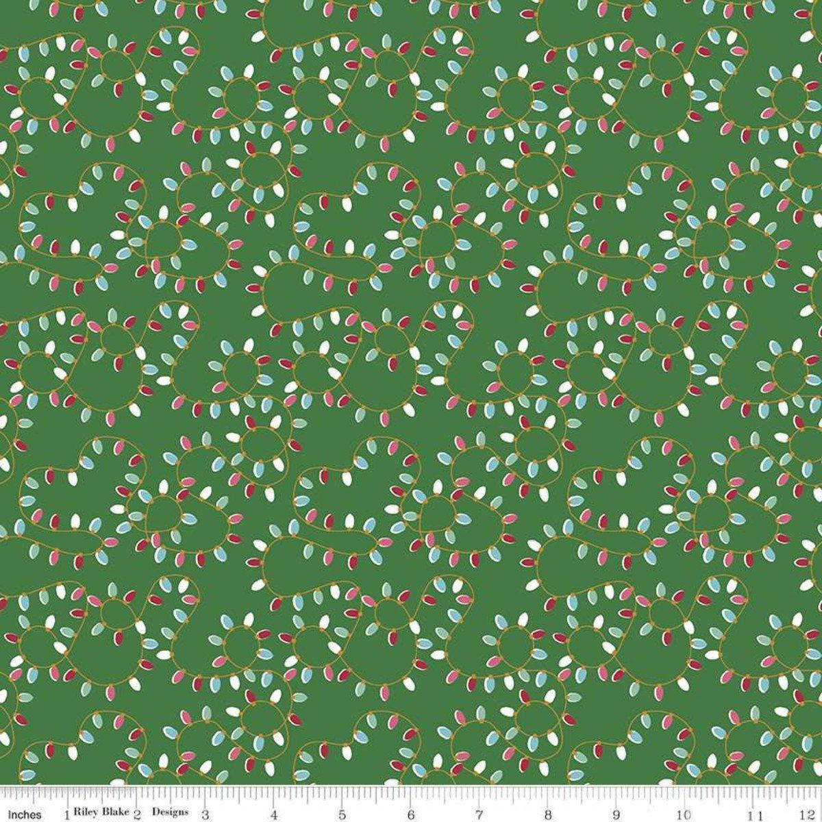 Lights: Green - Christmas Adventure - Beverly McCullough - Riley Blake Designs