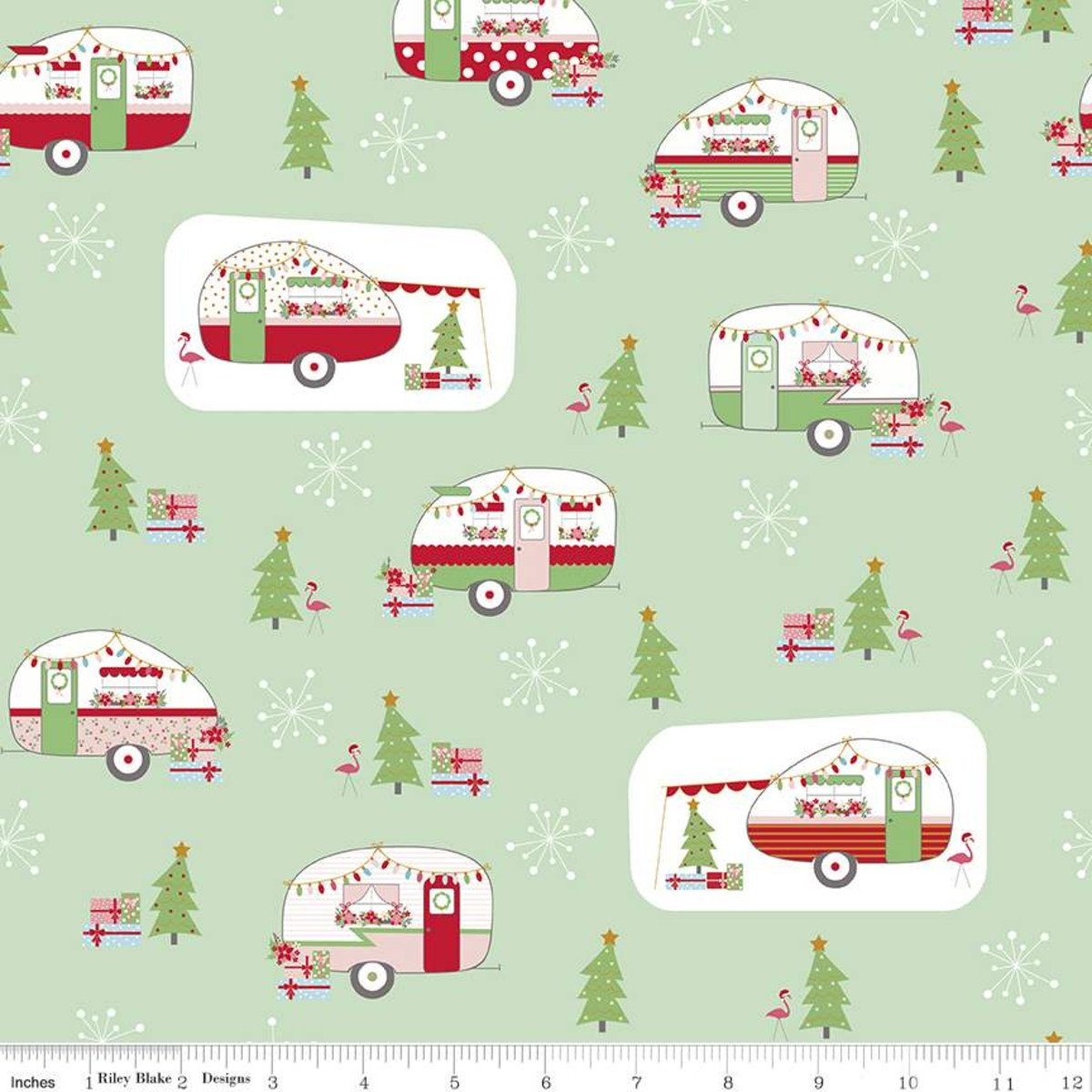 Main: Sweetmint - Christmas Adventure - Beverly McCullough - Riley Blake Designs