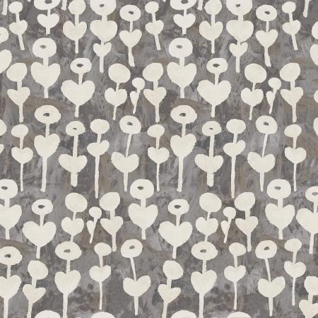 Love Flower in Gray - Newsprint - Cotton + Steel
