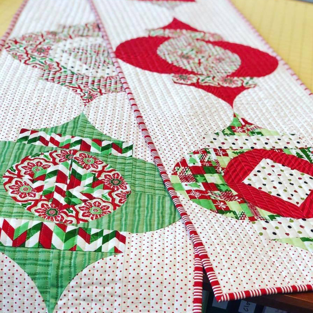 Sew Kinda Wonderful Ornament Table Runner
