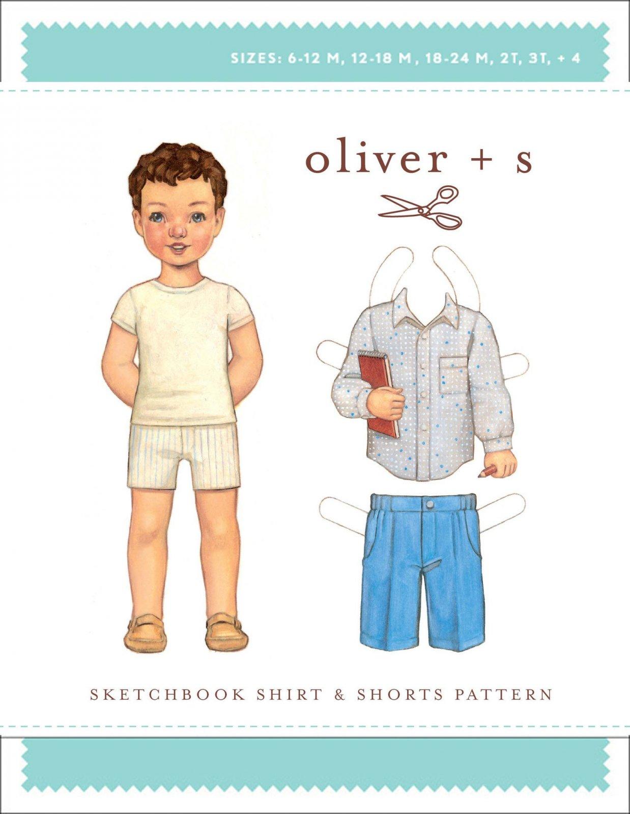 Sketchbook Shirt & Shorts Pattern by Oliver + S