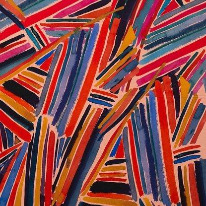 Wilderberry Stripe: Blush - Wilderberry - Alexander Henry