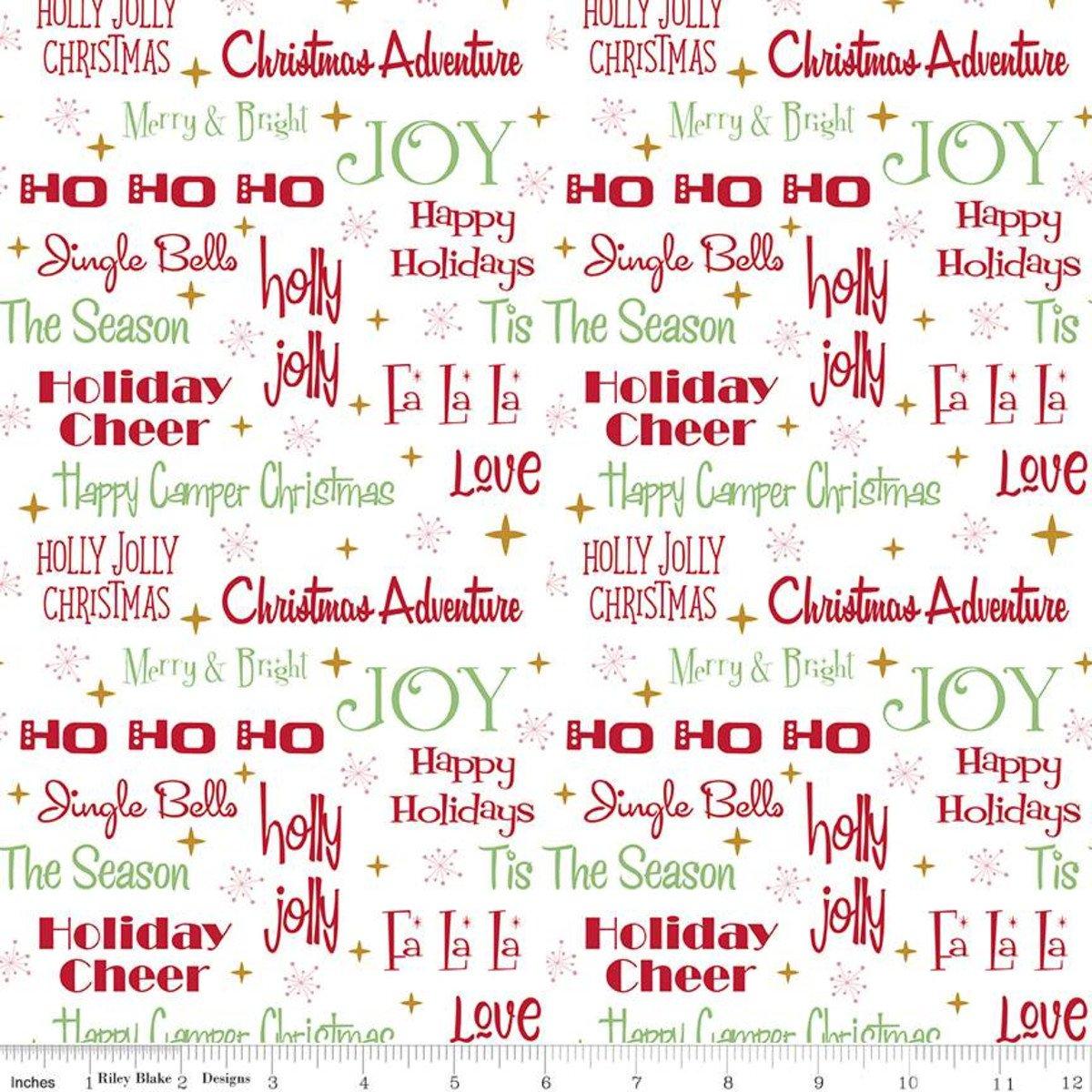 Phrases: White - Christmas Adventure - Beverly McCullough - Riley Blake Designs