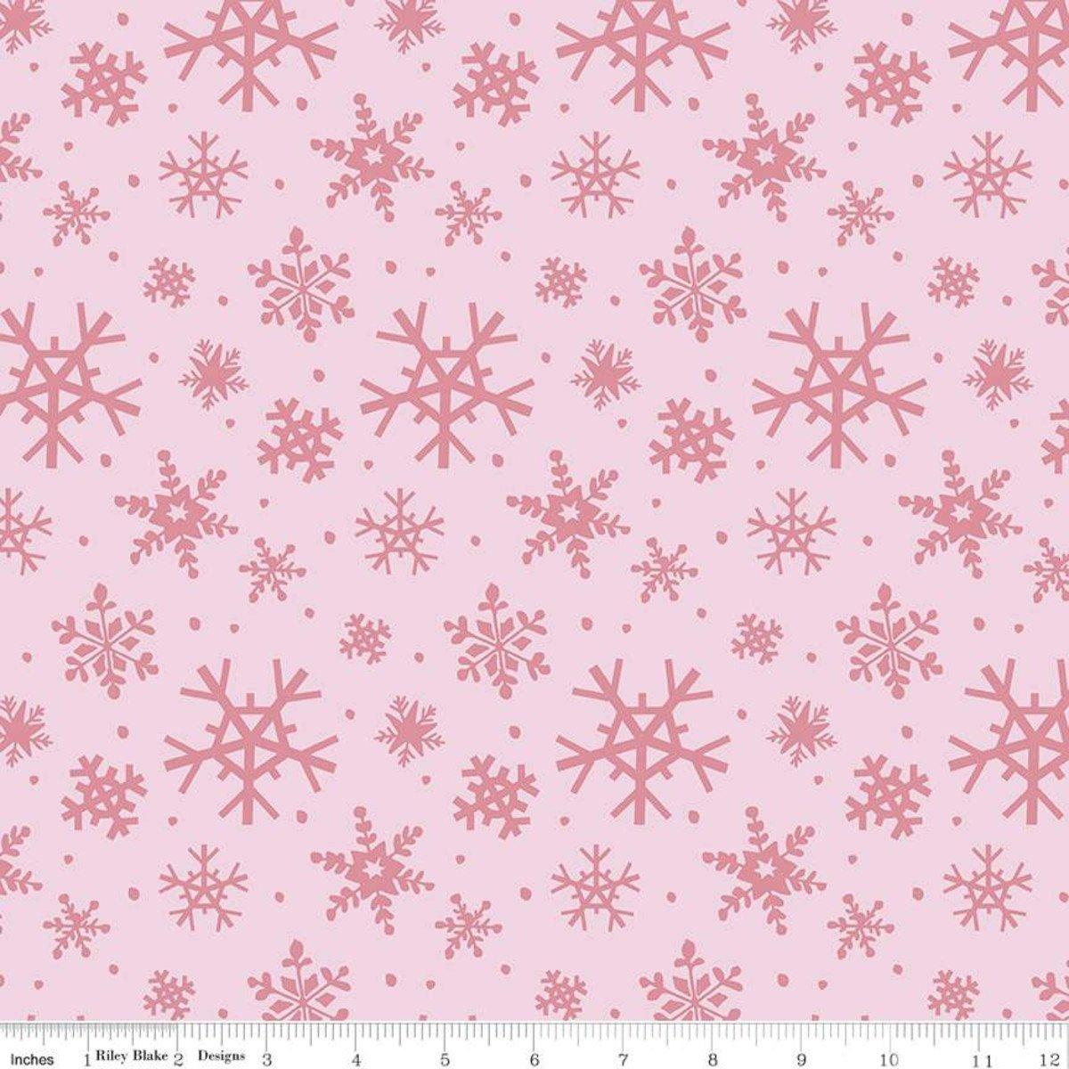 Snowflakes: Petal Pink - Holly Holiday - Christopher Thompson - Riley Blake Designs