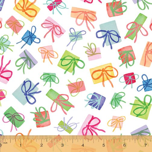 Presents: Snow Cotton - Wonderland - Betsy Olmsted - Windham Fabric