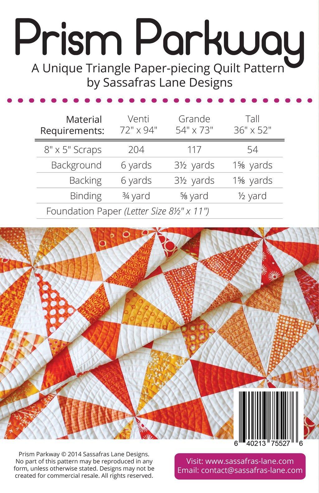 Prism Parkway Quilt Pattern by Sassafras Lane Designs