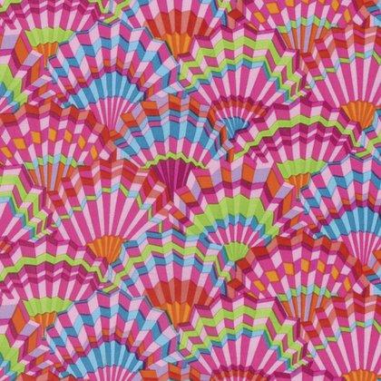 Paper Fans Pink - Spring 2017 - Kaffe Fassett