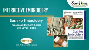 Interactive Embroidery - Sashiko