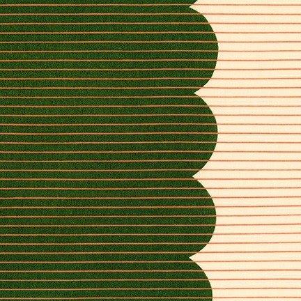 Scallop Single Border: Basil - Harriot - Carolyn Friedlander