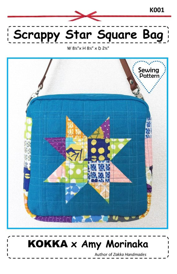 Scrappy Star Square Bag Pattern by Amy Morinaka