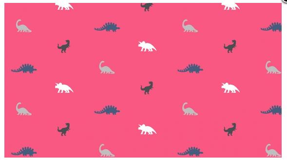 Mini Dino Fuschia - Stellasaurus - Dear Stella