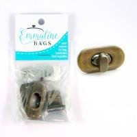 Small Turn Lock in Antique Brass - Emmaline