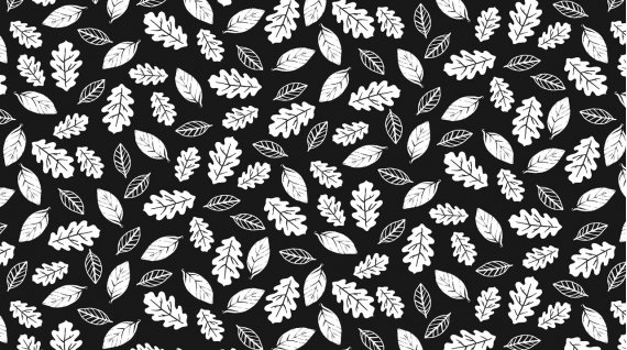 Leaves: Black - Fawn and Forest - Dear Stella Designs