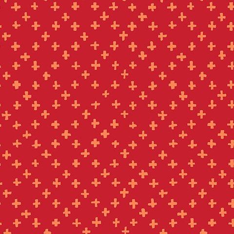 Tiny Crosses Red - Hello Blossom - Ella Blue