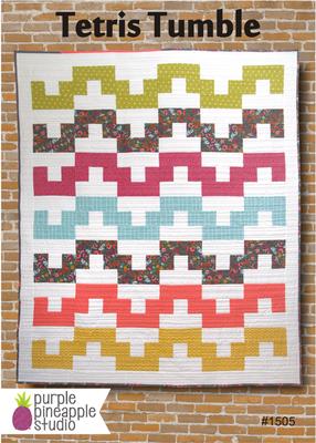 Tetris Tumble Quilt Pattern by Purple Pineapple Studio