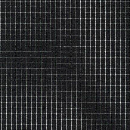 Thin Check Yarn Dyed: Black - Harriot - Carolyn Friedlander