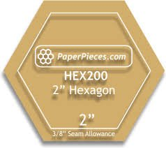 2 Hexagon Acrylic Template
