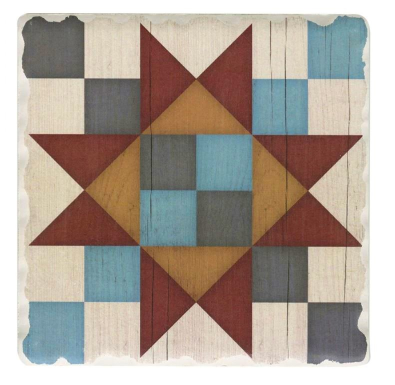 Barn Quilt Pattern Drink & Beverage Stone Coasters 10