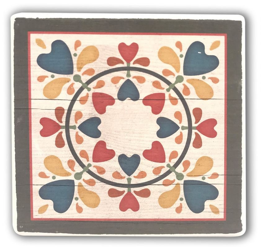 Barn Quilt Pattern Drink & Beverage Stone Coasters 12