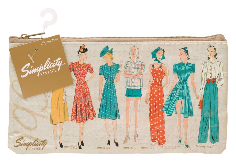 Vintage 1930 Plastic Zip Pouch