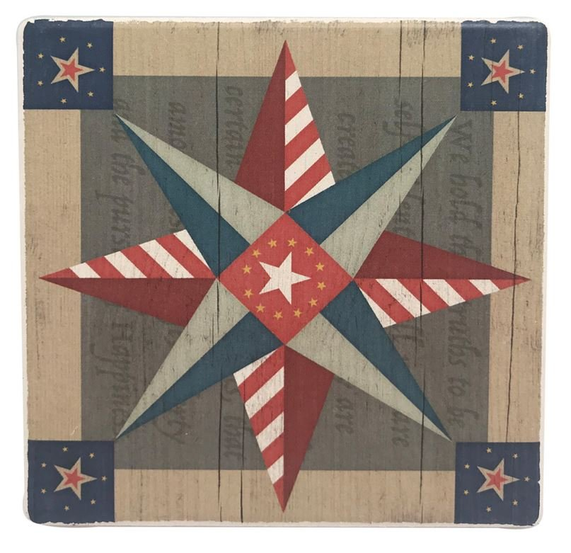 American Quilt Pattern Drink & Beverage Stone Coasters  1