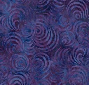 Wilmington Whirlpools Dark Purple 108 Wide Backing Fabric