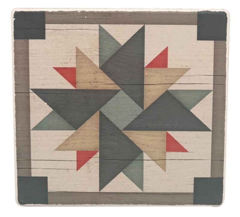 Barn Quilt Pattern Drink & Beverage Stone Coasters 3