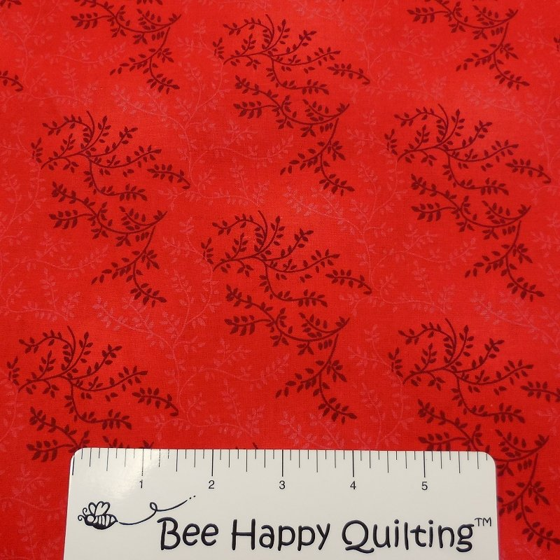 108 Wide Red Vine Backing Fabric