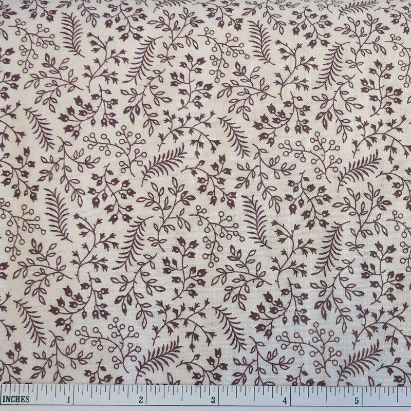 Fabric Madeline C.1880-1918 Ferns Mocha Fabric