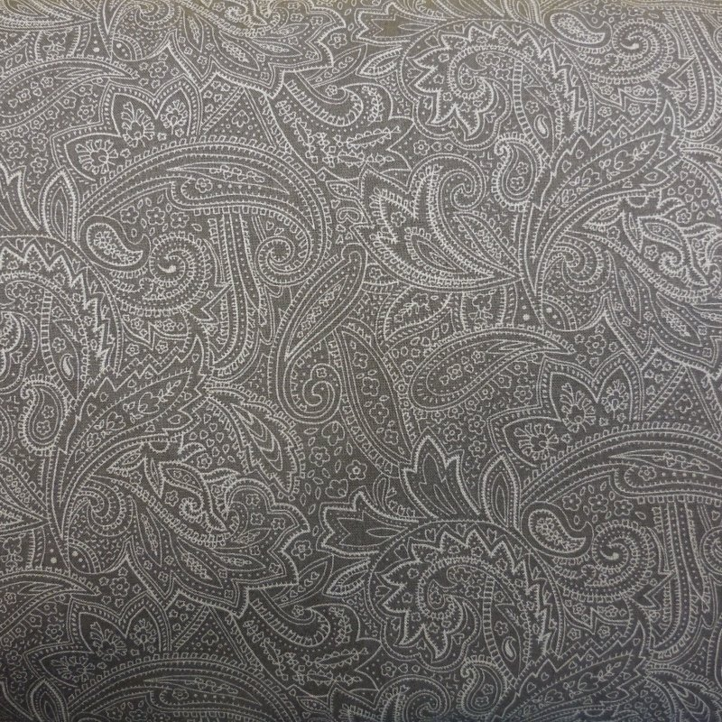 108 Grey Paisley Choice Quilt Backing