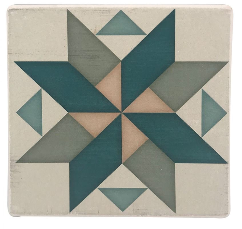 Barn Quilt Pattern Drink & Beverage Stone Coasters 8