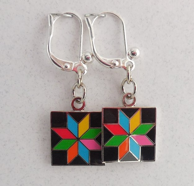 Quilt Charm Earrings- You Choose