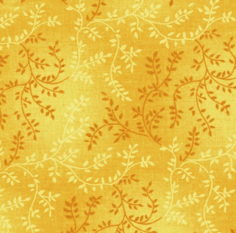 108 Wide Gold Vine Backing Fabric