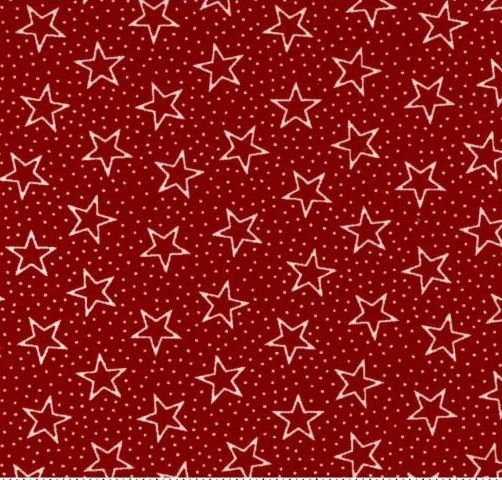 108 Wide Red Star Backing BD-49522-A03