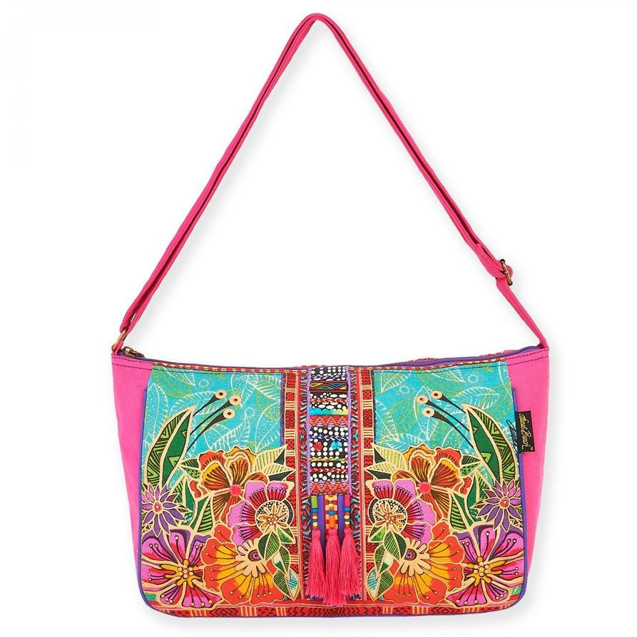 Laural Burch Crossbody Flora 15in x 4-1/2in x 10in