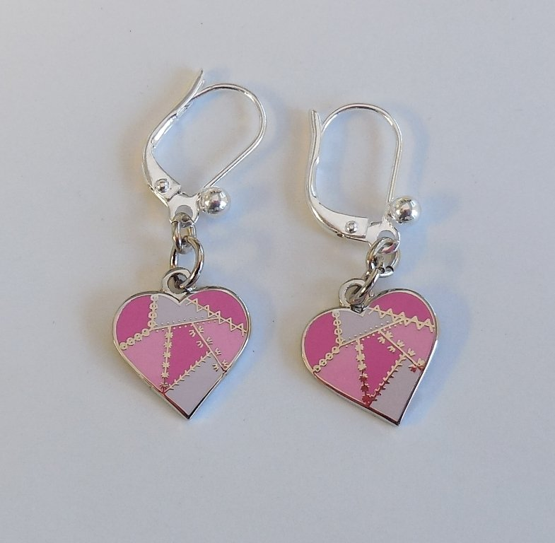Heart Earrings - Pink