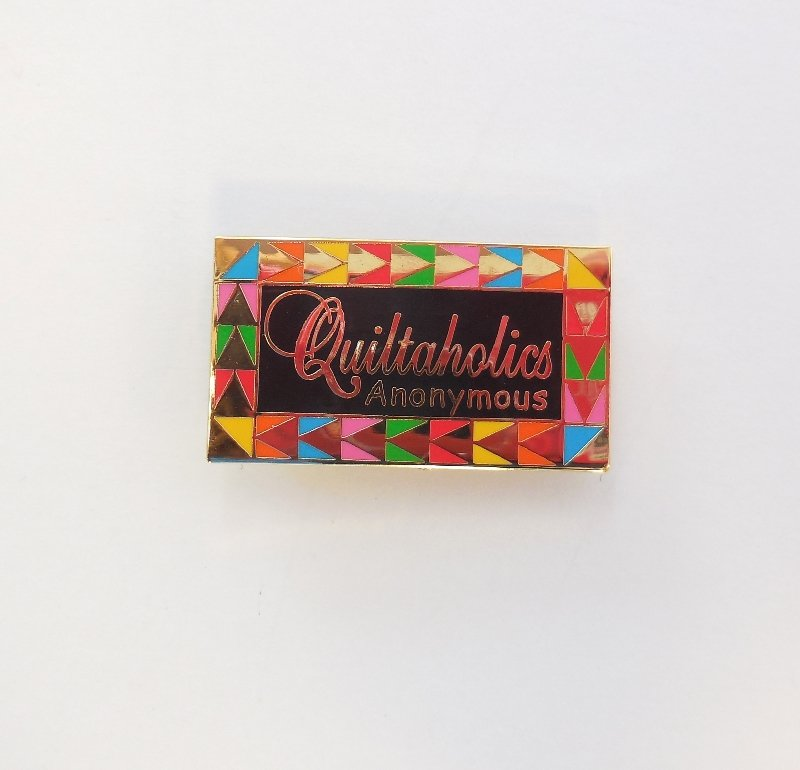 Quiltaholics Anonymous Pin Black