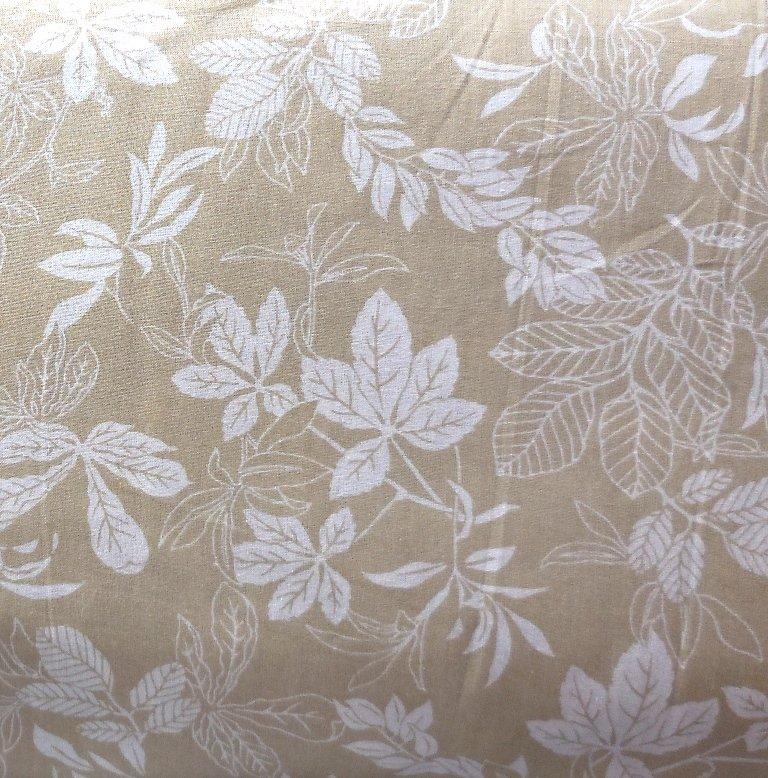 Modern Leaf Tan 108 Backing Fabric
