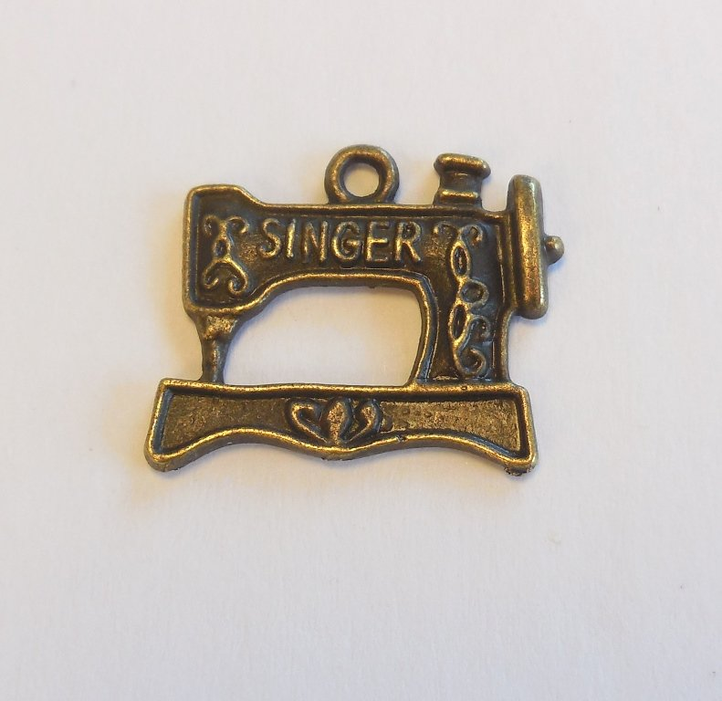 Brass Singer Sewing Machine Charm