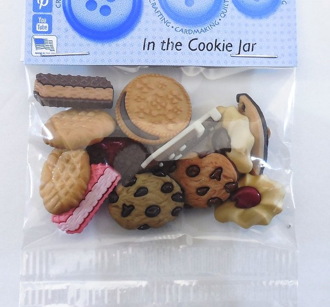 In the Cookie Jar Button Pack  6ct