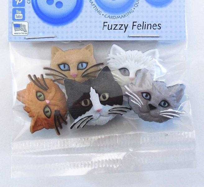 Fuzzy Felines Buttons