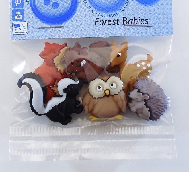 Forest Babies Button Pack 6ct