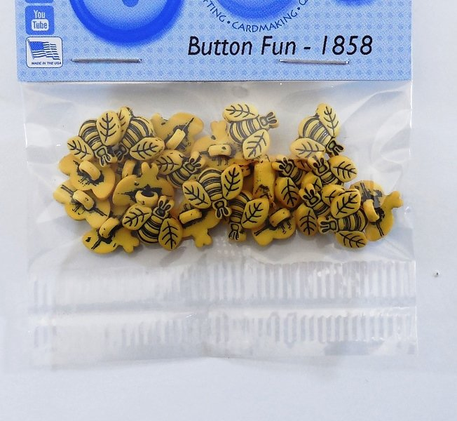 Tiny Bees Button Pack 20ct