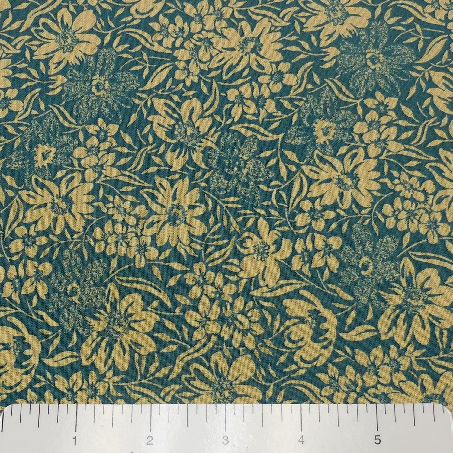 RJR Thimbleberries Carden Collage Teal  Fabric