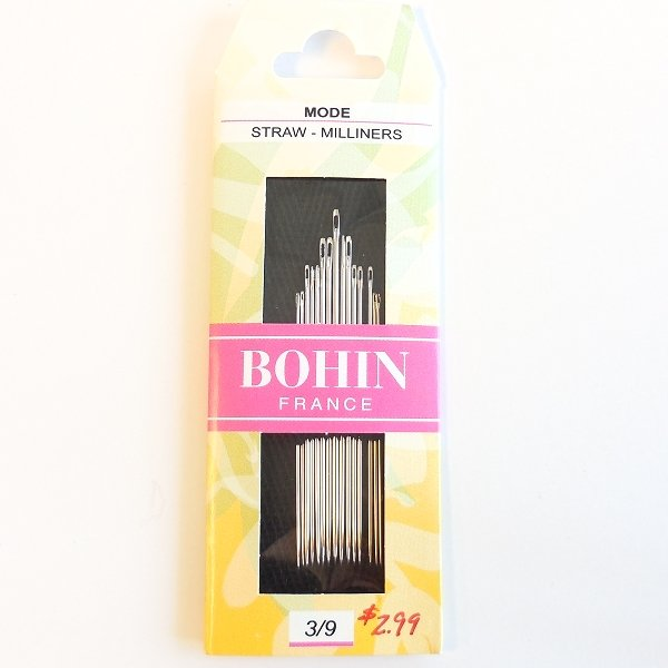 Bohin Straw- Milliners Needles size 3/9